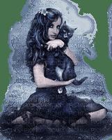 CHILD GIRL GOTHIC CAT FILLE ENFANT  GOTHIQUE CHAT