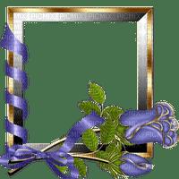 Cadre fleurs cadre dorée fleurs bleues Debutante ruban bleu blue frame blue flower