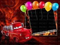 image encre bon anniversaire color effet  voiture Disney edited by me