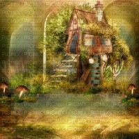 autumn automne herbst landscape background fond paysage landschaft image  forest house fantasy