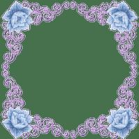 minou-frame-vintage-flower-blue