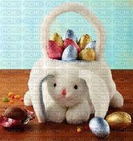 chasse aux oeufs de Pâques Panier de lapin de pâques en peluche blanche