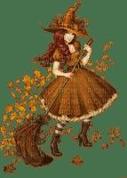 femme,sorcière Halloween,autumn, Pelageya