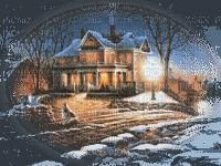 paysage d'hiver maison 2