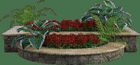 Macetas con flores y plantas