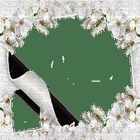 WHITE FLOWER FRAME cadre fleur blanc