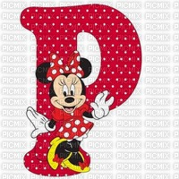 image encre lettre P Minnie Disney edited by me